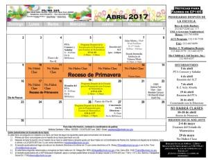 April Calendar 2017_es